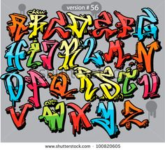 alphabet graffiti style. urban font by wallnarez, via Shutterstock