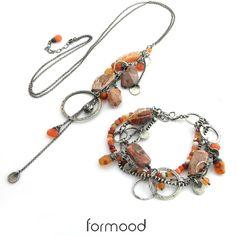 FORMOOD - Mexican fire opal, carnelian - bracelet