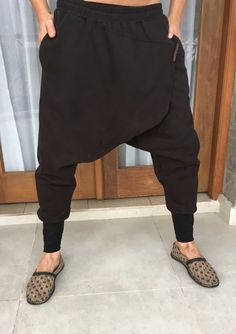 Premium low drop crotch ninja pants / baggy harem pant / harem