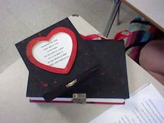 This is my altered book :D (by kaylie kraemer) Markus Zusak, The Book Thief, Altered Books, Alters, Hearts, Strong, English, Words, Book Art