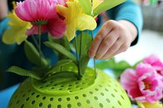 fine motor flower arrangements preschool - No Time For Flash Cards Fine Motor Activities For Kids, Sensory Activities Toddlers, Dementia Activities, Spring Activities, Infant Activities, Learning Activities, April Preschool, Preschool Garden, Preschool Themes