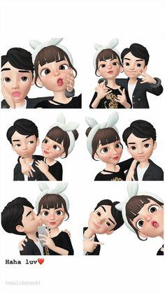 Love Cartoon Couple, Cute Cartoon Girl, Cute Love Cartoons, Cute Couple Art, Cartoon Art, Cute Couples, Cartoon Wallpaper Hd, Cute Emoji Wallpaper, Skull Wallpaper