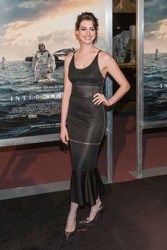 Anne Hathaway in Calvin Klein November 5, 2014