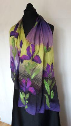 Felted shawl Irises от AtelierLenaOM на Etsy