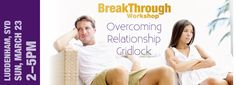 BreakThrough Workshop:   All couples go through periods where their relationship is strained. Stress, sleep-deprivation, demands from family and work can starve your marriage of the positive energy it needs and deserves. Soon, you find yourselves arguing more often, making up with less enthusiasm and becoming someone...  - http://smartloving.org/breakthrough-workshop/ http://smartloving.org/wp-content/uploads/2013/12/SLW-Lud-Mar.jpg