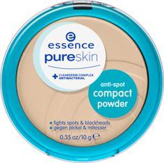 pure skin anti-spot compact powder 03 nude - essence cosmetics