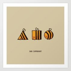Buy BEE DIFFERENT Art Print by huebucket. Worldwide shipping available at Societ.