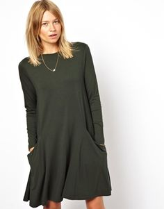 ASOS+Swing+Dress+With+Pockets+And+Long+Sleeves