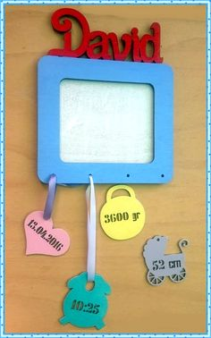 Personalized photo frame with birth info