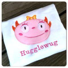 Summer Henry Hugglemonster personalized embroidered applique shirt by MamasLittleWorkshop on Etsy