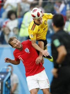 Harry Kane of England Thomas Vermaelen of Belgium during the 2018 FIFA World Cup Playoff for third place match between Belgium and England at the...