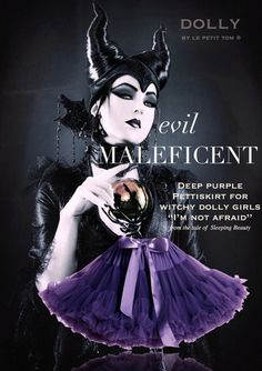 DOLLY by Le Petit Tom ® MALEFICENT pettiskirt deep purple