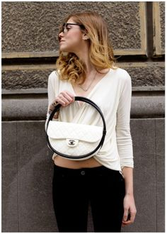 Hula Hoop Bag  Now this is a size I could actually envision carrying