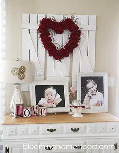 Valentine Vignette at Blooming Homestead