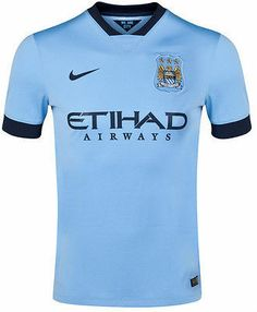 NIKE MANCHESTER CITY HOME JERSEY 2014/15 BARCLAYS PREMIER LEAGUE.