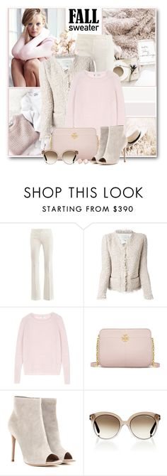 """""""Cozy Fall Sweater"""" by brendariley-1 ❤ liked on Polyvore featuring Victoria's Secret, Alexander McQueen, IRO, MaxMara, Tory Burch, Gianvito Rossi, Tom Ford, Kate Spade and fallsweaters"""