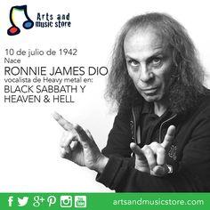 10 de julio de 1942 nace Ronnie James Dio, vocalista en Black Sabbath y Heaven & Hell.