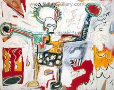 Oil painting reproductions of Basquiat, Self portrait as a Heel 1982 handmade at our painting studio with hi-quality painting and canvas. Bad Painting, Painting Studio, Painting Process, Jean Michel Basquiat, Frankfurt, Basquiat Paintings, Bojack Horseman, New Wave, Lighted Canvas