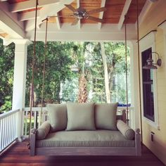 Not your average porch swing! Our swing beds are hand-built, unique and customized per client. If you can dream it, we can build it.