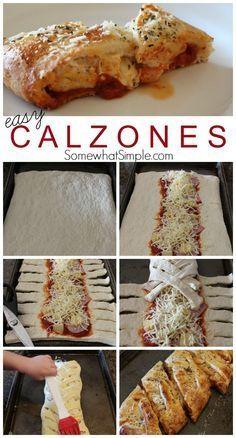 (6) Easy Dinner Idea - Calzones Recipe | food | Pinterest