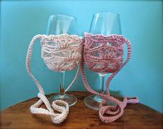 365 Crochet: Ember Ruby Wine Glass Lanyard -free crochet pattern-