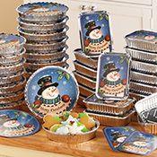 36 PC Christmas Snowman Foil Treat Containers; $14.99