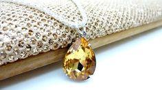 Topaz Golden Yellow Necklace November Birthstone by Dewdropsdreams, $26.00 https://www.etsy.com/listing/122312189/topaz-golden-yellow-necklace-november