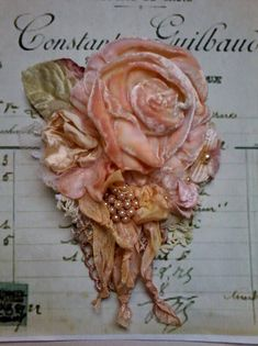 victorianshabby chic broochcorsagehair by susanjanescreations