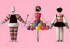The Triadic Ballet, Pink SeriesTurkish Dancer I / Gown with balls / Turkish Dancer II
