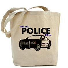 Wife Of A Police Officer Tote Bag > Canvas Tote Bags > The Art Studio by Mark Moore