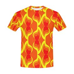 FLAMES All Over Print T-Shirt for Men (USA Size) (Model T40)