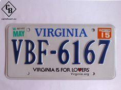 Placa - Matrícula metálica original de USA - Virginia VBF 6167-1