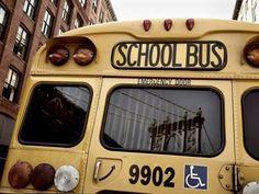 Nina Papiorek Premium Thick-Wrap Canvas Wall Art Print entitled NYC School Bus, None
