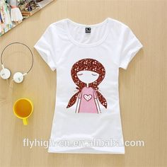 korean style t shirt wholesale woman cute t-shirt, View cute t-shirt, Flyhigh Product Details from Shenzhen Fly-High Industry Co., Ltd. on Alibaba.com