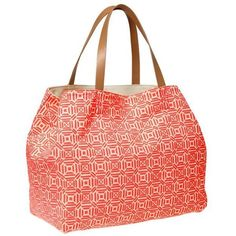 Gap Printed Canvas Tote ($40) ❤ liked on Polyvore