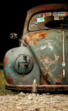 Check out Air-cooled vintage VW Beetles, Ghias and Buses for sale because half the fun in Buying a classic Volkswagen is looking at all the photos and video Vw Bus, Vw Camper, Kdf Wagen, Automobile, Vw Vintage, Rusty Cars, Abandoned Cars, Vw Beetles, Old Trucks
