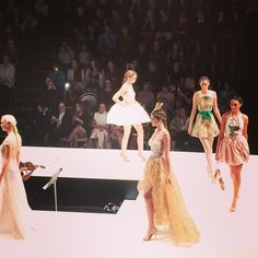 Check out the haute couture at the #MSFW 2014 Runway One fashion show.