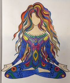 Finished!  Coloring book:  Inner Peace Medium: Prismacolor pencils and gel pens #finished #prismacolor #progress #coloring #ilovecoloring #coloringcreativity #innerpeace #peace #serenity #meditation