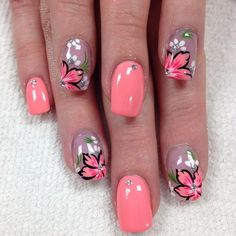 Daisy Nail Art Daisies are very simple flowers that can be found in many places during Spring. Flower nail designs can be completed in many colors. Daisy Nail Art, Flower Nail Art, Cute Nail Art, Beautiful Nail Art, Cute Nails, Pretty Nails, Nails With Flower Design, Floral Design, Flower Nail Designs