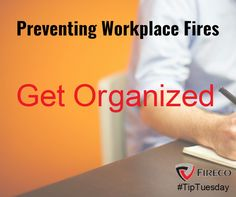 Clutter in the workplace can help fuel a fire and might limit access to exits and fire fighting equipment. Safety Rules, Getting Organized, Clutter, Firefighter, Workplace, Tech Companies, Company Logo, Organization, Logos