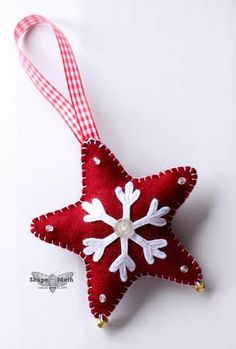 So, my swap partners :) You have a choice: - felt star with jingle bells - 3 embroidery hoop Felt Christmas Decorations, Christmas Ornaments To Make, Christmas Sewing, Christmas Projects, Felt Crafts, Handmade Christmas, Holiday Crafts, Christmas Crafts, Christmas Star
