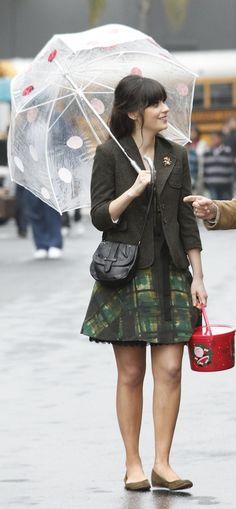 Zooey Deschanel - Green dress from New Girl Christmas episode