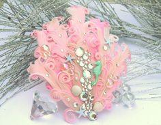 Little Pink Mer-girl blush and aqua mermaid, beach, headband or hair clip headpiece- girl or woman, costume, ocean, seaside, party, wedding