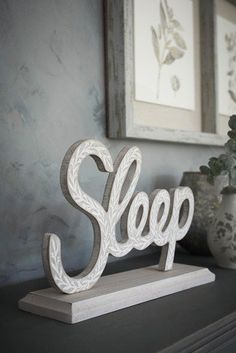 Add an element of style to your personal space with this Sleep Word Block. Bedroom Color Schemes, Bedroom Colors, Bedroom Decor, Word Block, Vintage Hooks, Clear Glass Vases, Elements Of Style, Window Styles, Faux Flowers
