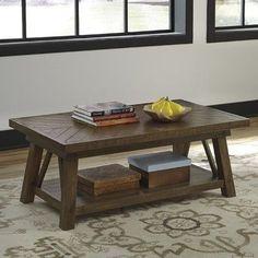 Signature Design By Ashley Veldar Coffee Table With Magazine Rack - Ashley veldar coffee table