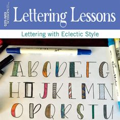 Quick tips in a preview of this new Lettering Lesson at ClothPaperScissors.com!