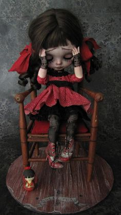 Miss Polly had a Dolly. --My Grandmother got me into dolls at a young age. Love how this isnt your ordinary doll!