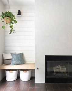 Shelves Around Fireplace, Fireplace Facing, Fireplace Built Ins, Home Fireplace, Tv With Fireplace, Fireplace Stores, Fireplace Remodel, Modern Fireplace, Fireplace Ideas
