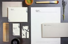 Qet |Modern Species – stationery design for an organic beauty line