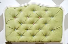 How to upholster a tufted headboard tutorial